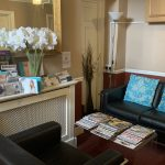 Waiting room at C&S Advance Aesthetic Clinic Exeter